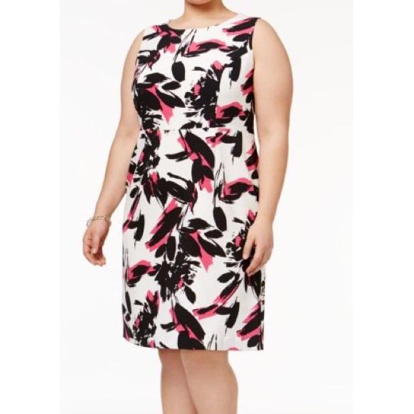 a06f756a135 Kasper Plus Size 22W Floral Print Sheath Dress NWT